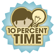 10 Percent Time logo