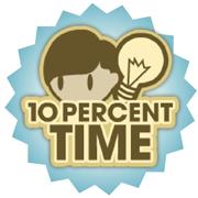 10 Percent Time logo