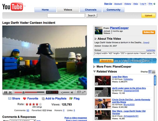 Lego Darth Vader Canteen Incident