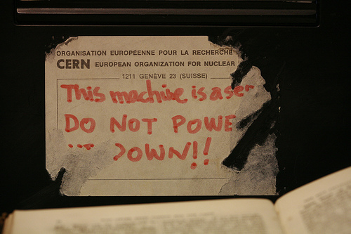 Tag on Tim Berners-Lee's original NeXT machine -- first Web server [by Robert Scoble Used under licence.]