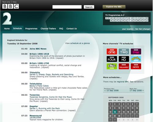 BBC 2 Schedule