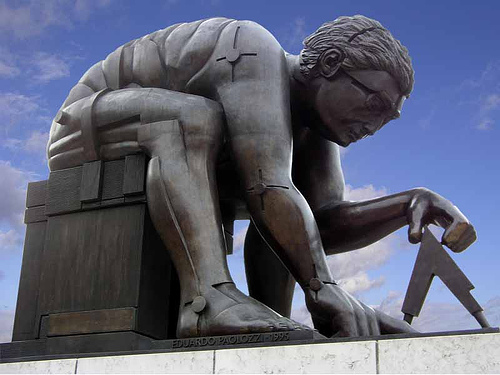 """Newton by Eduardo Paolozzi"" by grytr. Some rights reserved."