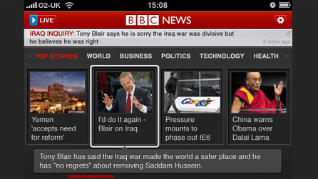 BBC News on mobile
